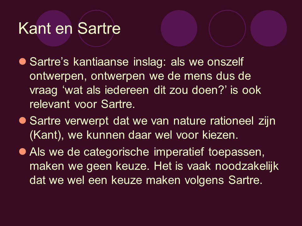 Kant en Sartre