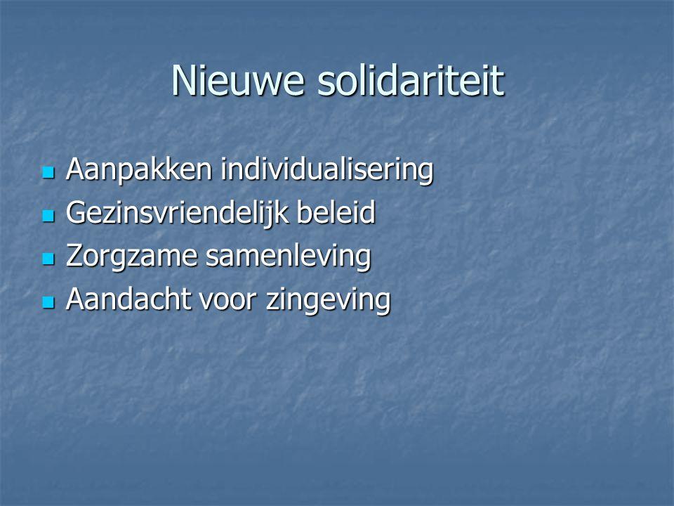 Nieuwe solidariteit Aanpakken individualisering