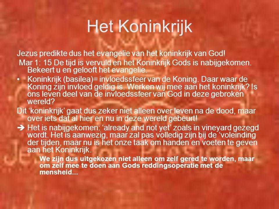 Het Koninkrijk Jezus predikte dus het evangelie van het koninkrijk van God!