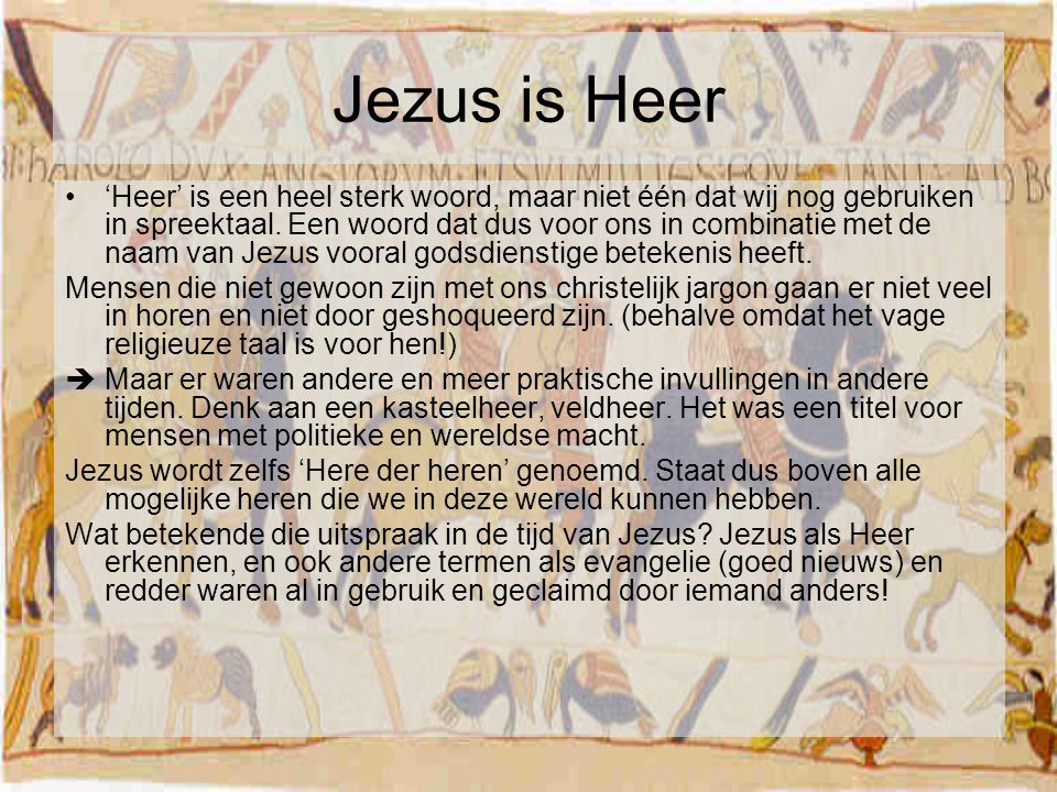 Jezus is Heer