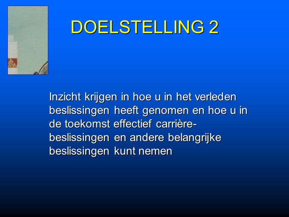 DOELSTELLING 2