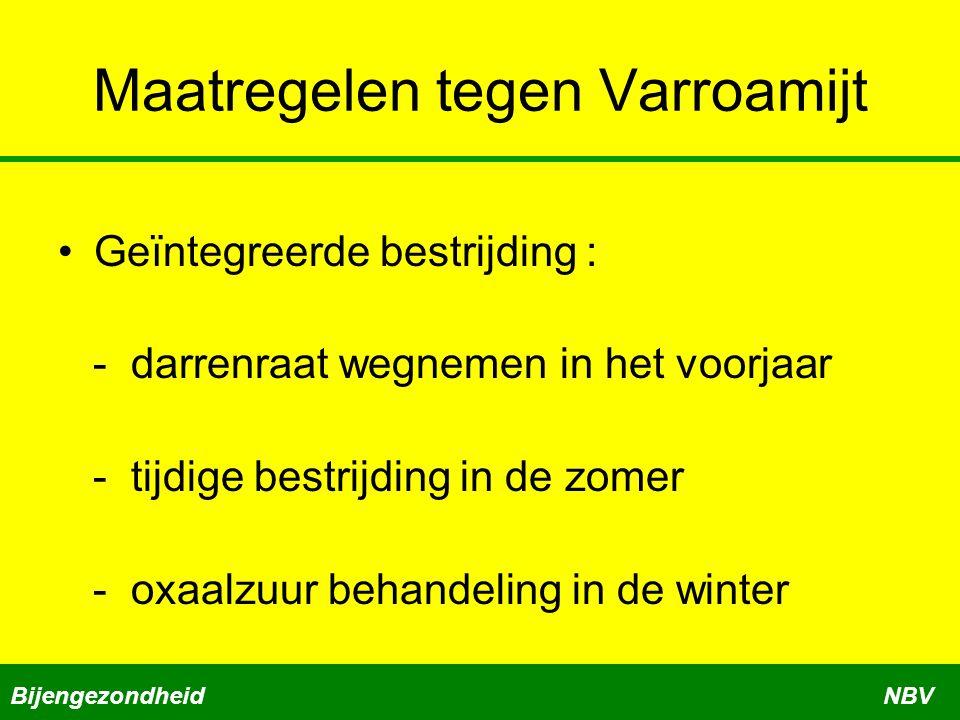 Maatregelen tegen Varroamijt