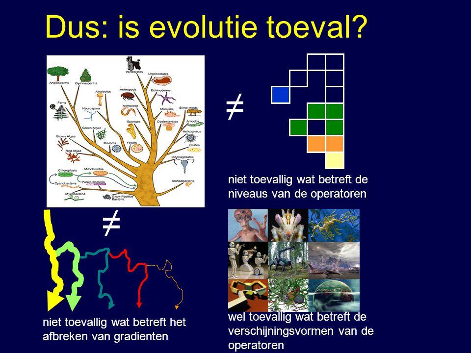 Dus: is evolutie toeval