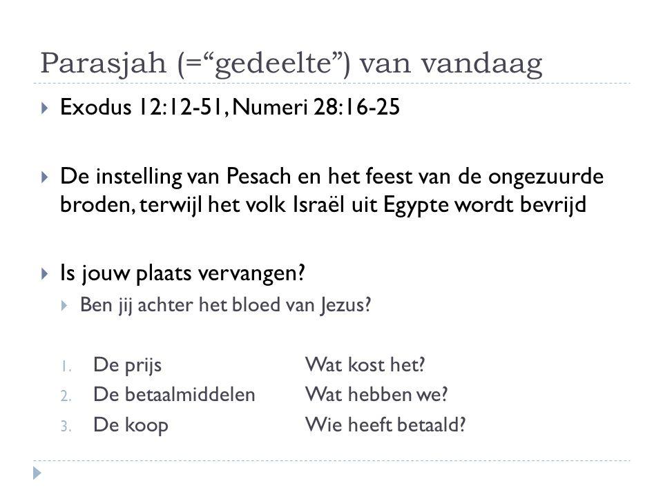 Parasjah (= gedeelte ) van vandaag