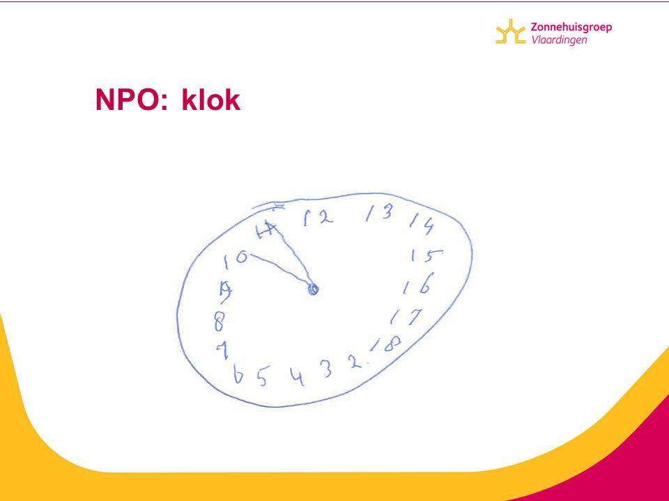 NPO: klok Wat meet ik met het tekenen van een klok