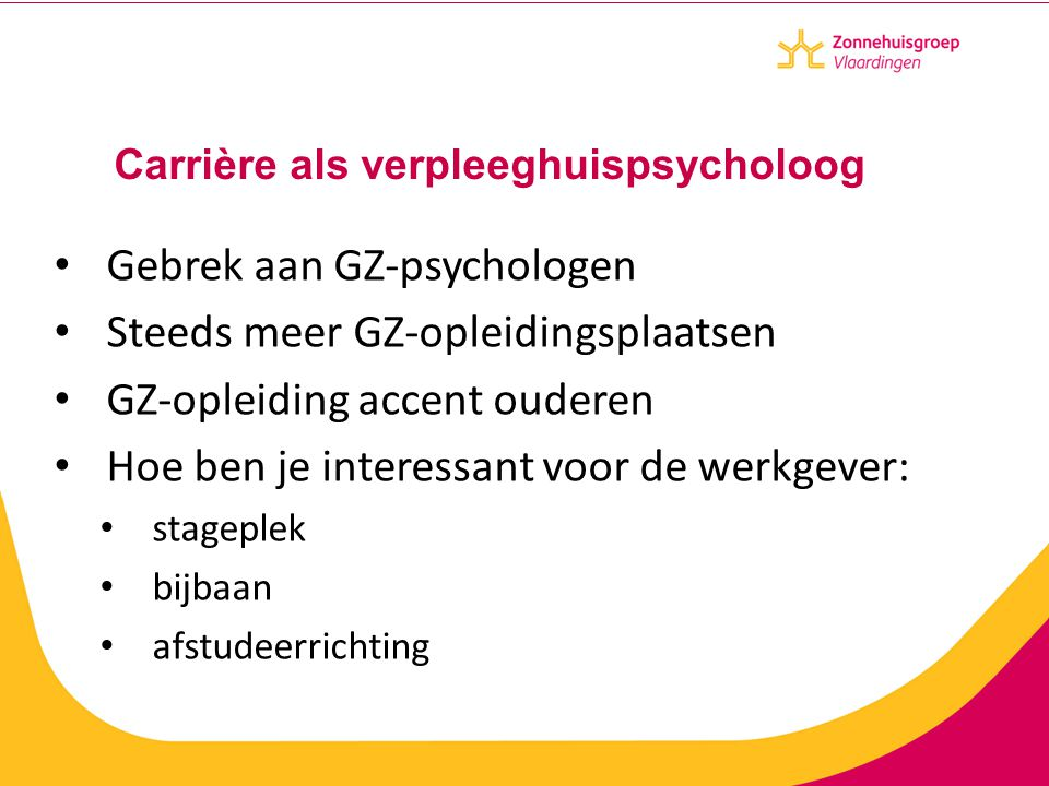 Carrière als verpleeghuispsycholoog