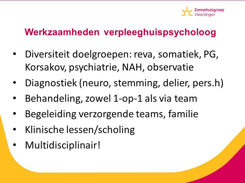 Werkzaamheden verpleeghuispsycholoog