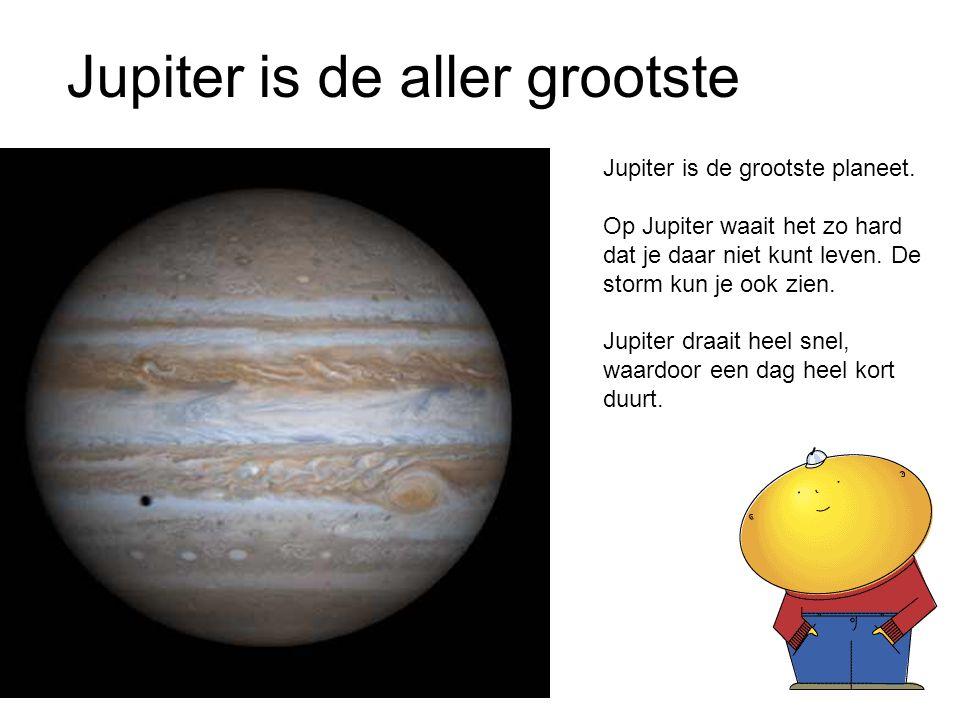 Jupiter is de aller grootste