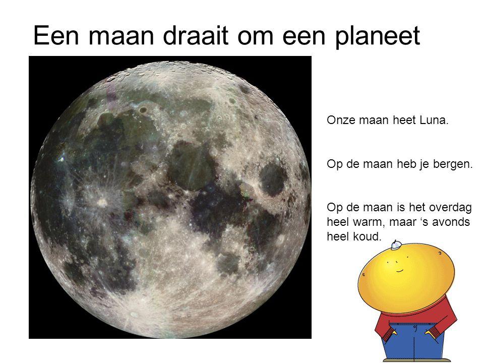 Een maan draait om een planeet