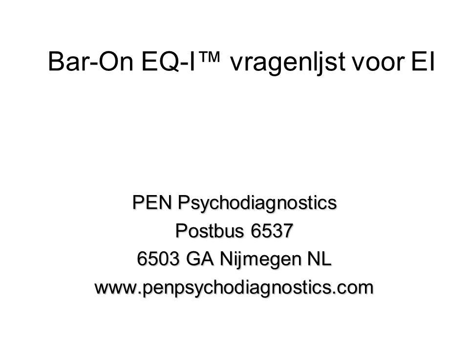 Bar-On EQ-I™ vragenljst voor EI