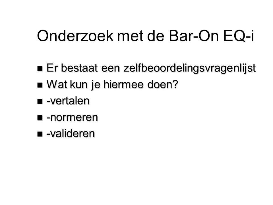 Onderzoek met de Bar-On EQ-i