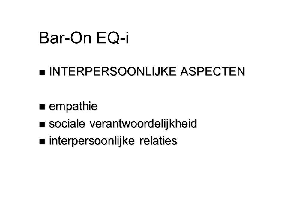 Bar-On EQ-i INTERPERSOONLIJKE ASPECTEN empathie