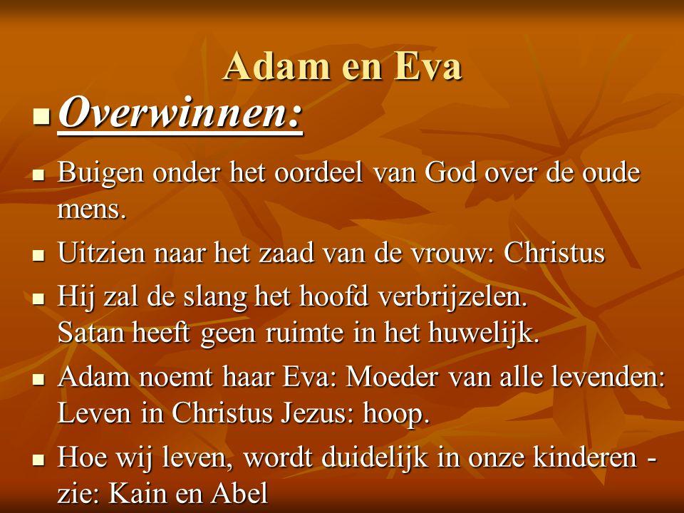 Overwinnen: Adam en Eva