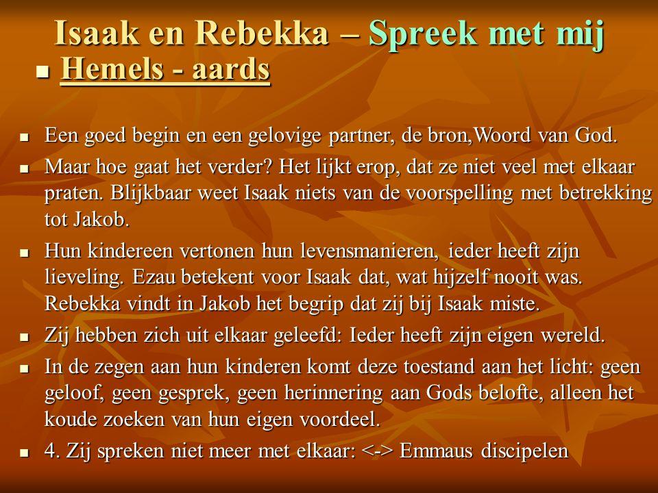 Isaak en Rebekka – Spreek met mij