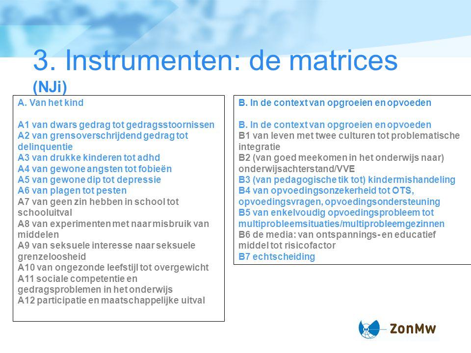 3. Instrumenten: de matrices (NJi)