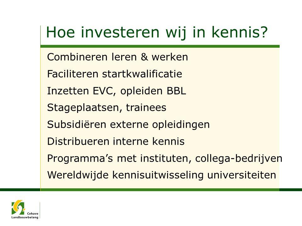 Hoe investeren wij in kennis