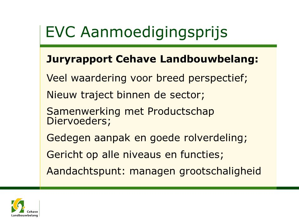 EVC Aanmoedigingsprijs