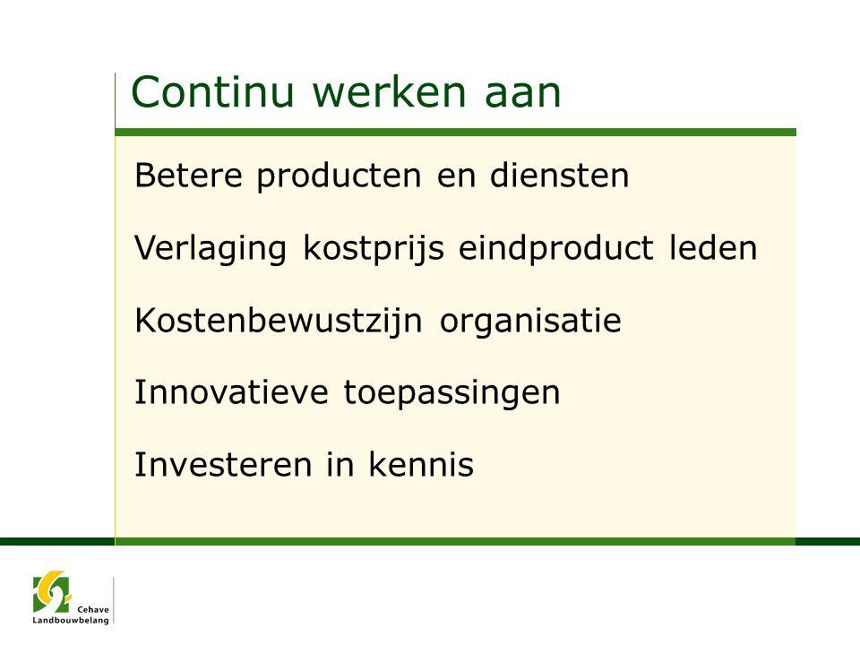 Continu werken aan Betere producten en diensten