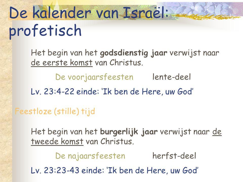 De kalender van Israël: profetisch