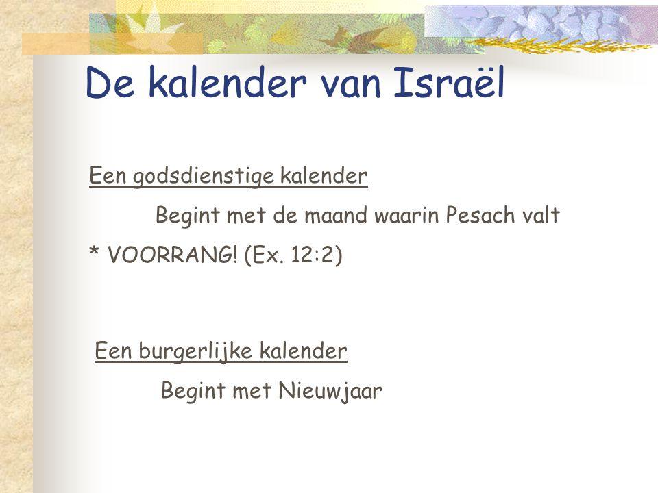 De kalender van Israël Een godsdienstige kalender