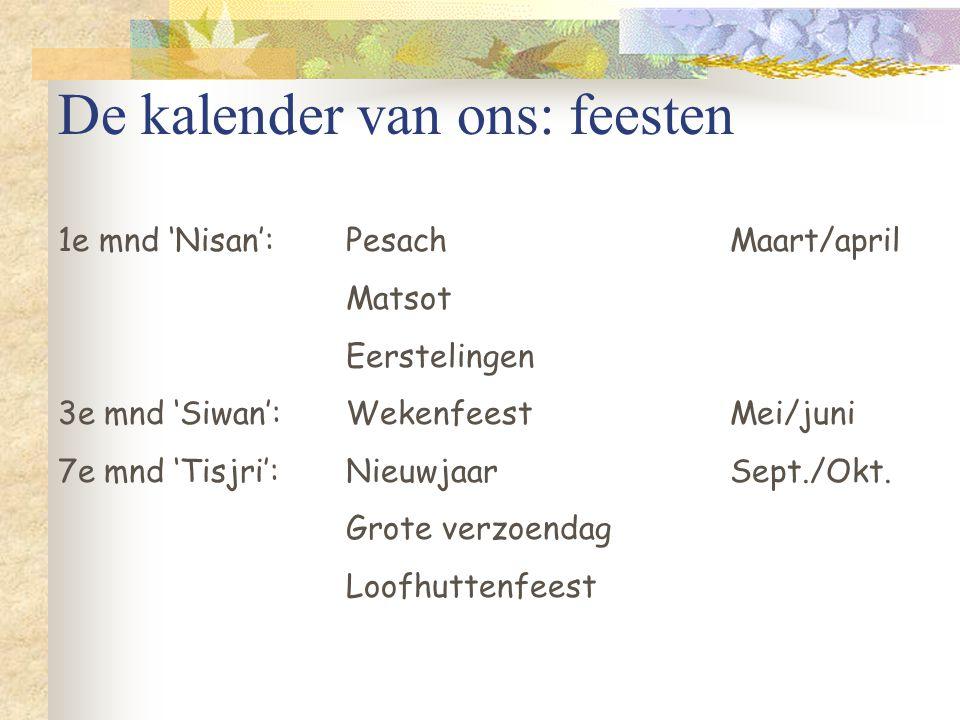 De kalender van ons: feesten
