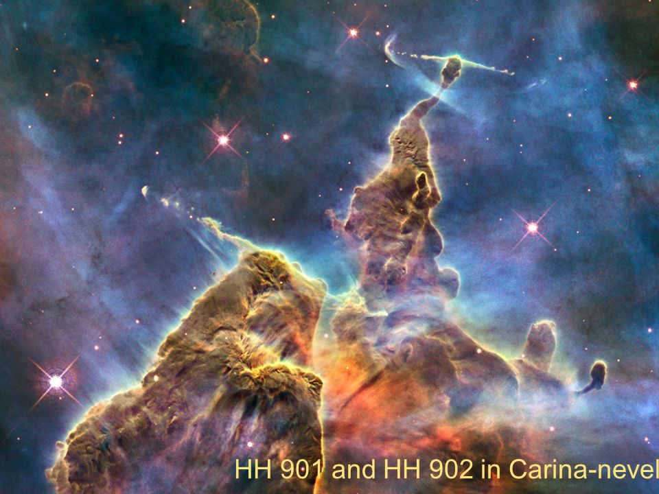 HH 901 and HH 902 in Carina-nevel