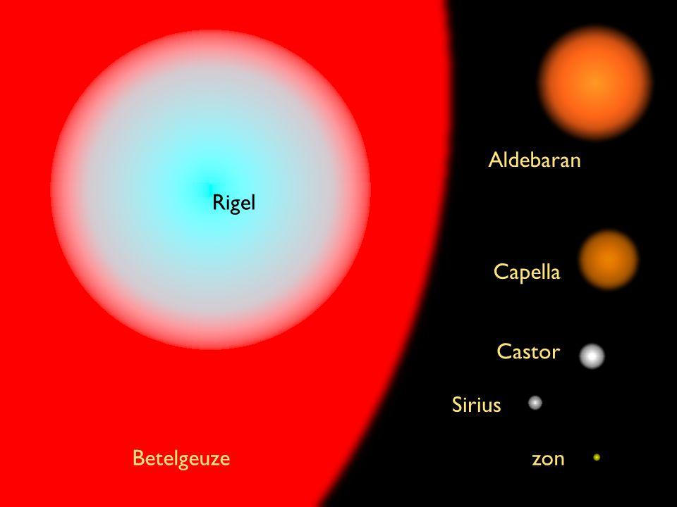 Aldebaran Rigel Capella Castor Sirius Betelgeuze zon
