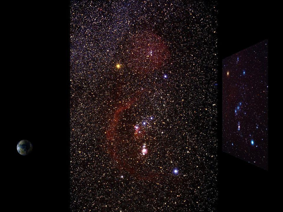 De sterren die we in Orion zien, staan niet allemaal op dezelfde plek.