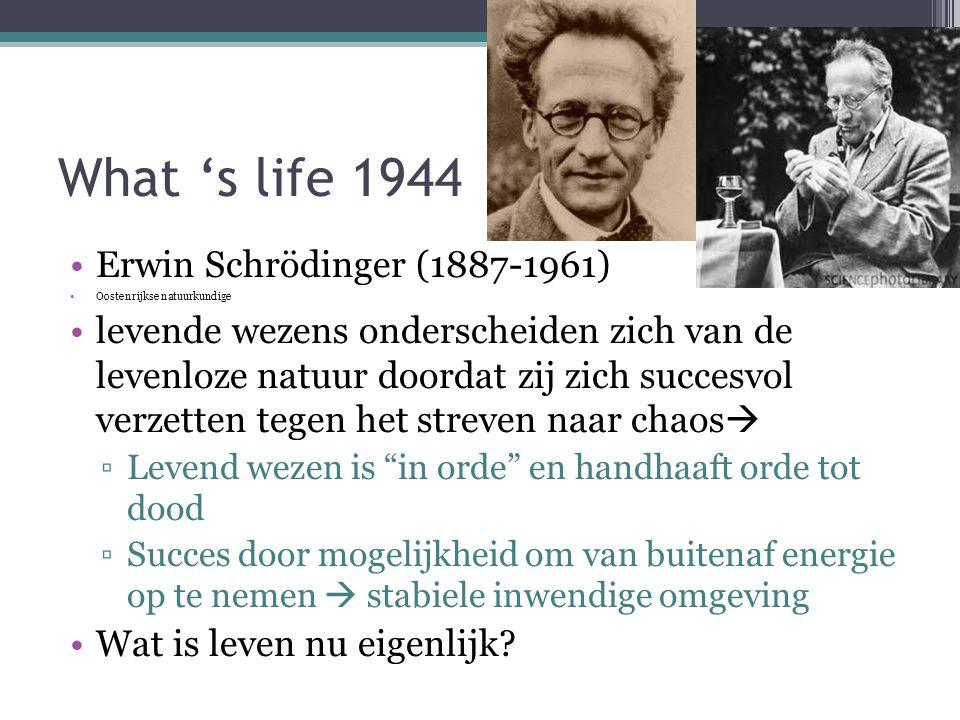 What 's life 1944 Erwin Schrödinger (1887-1961)
