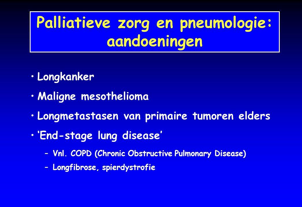 Palliatieve zorg en pneumologie:
