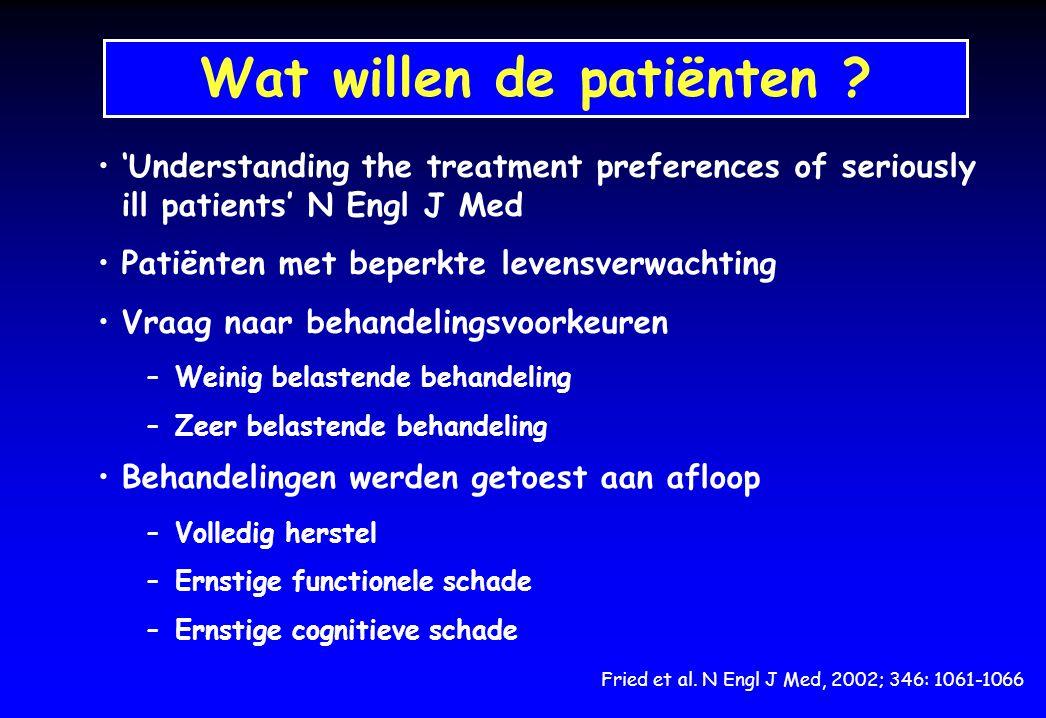 Wat willen de patiënten