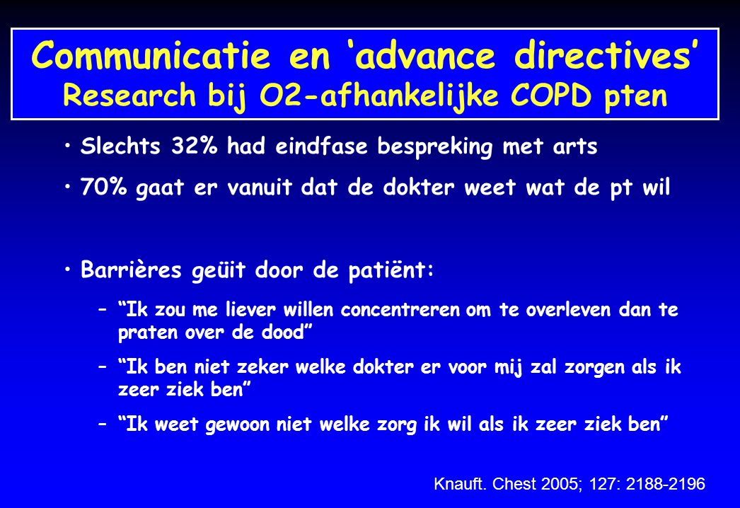 Communicatie en 'advance directives'