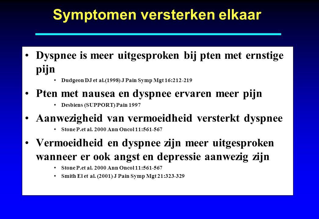 Symptomen versterken elkaar
