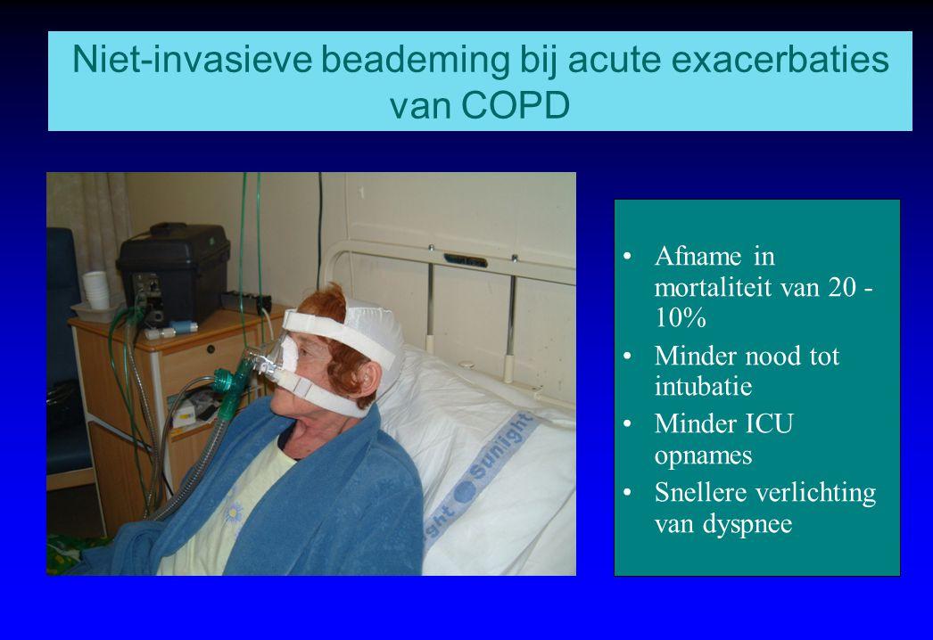 Niet-invasieve beademing bij acute exacerbaties van COPD