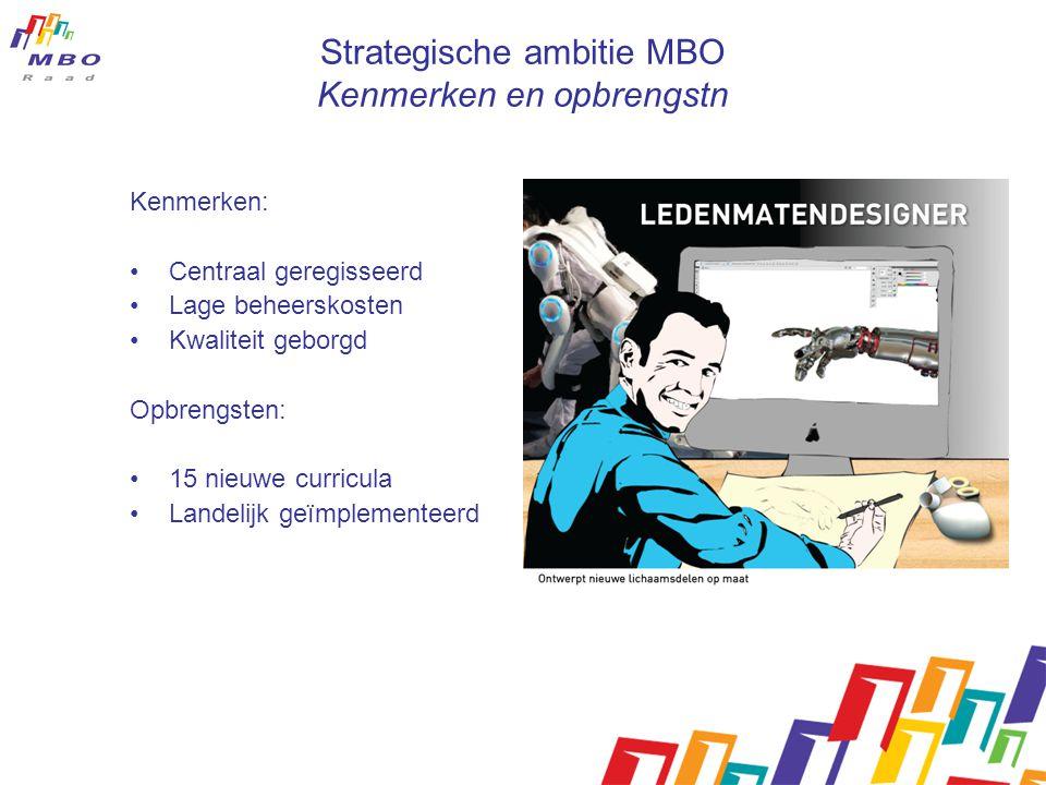 Strategische ambitie MBO Kenmerken en opbrengstn