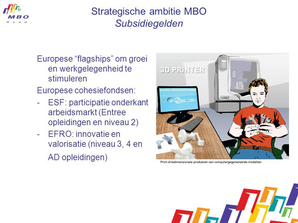 Strategische ambitie MBO Subsidiegelden
