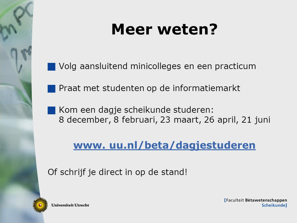 www. uu.nl/beta/dagjestuderen