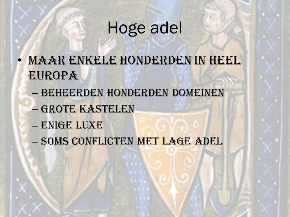 Hoge adel Maar enkele honderden in heel Europa