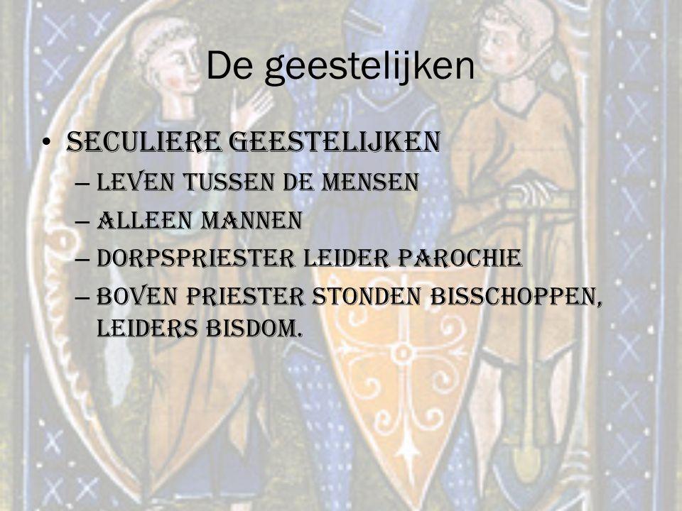 De geestelijken Seculiere geestelijken Leven tussen de mensen
