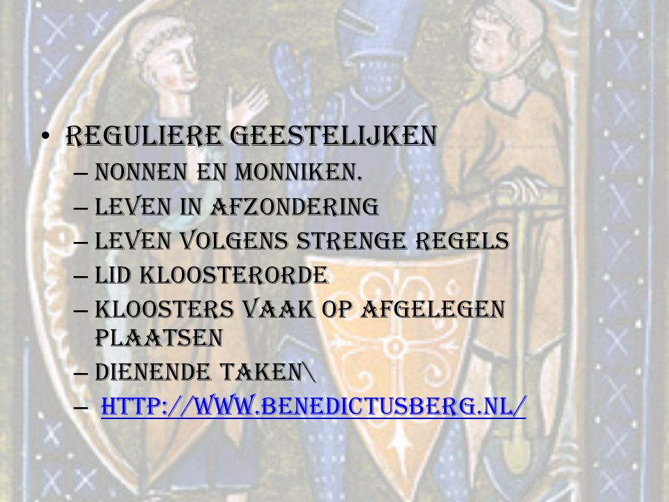 Reguliere geestelijken