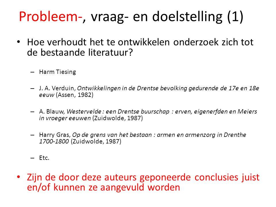 Probleem-, vraag- en doelstelling (1)