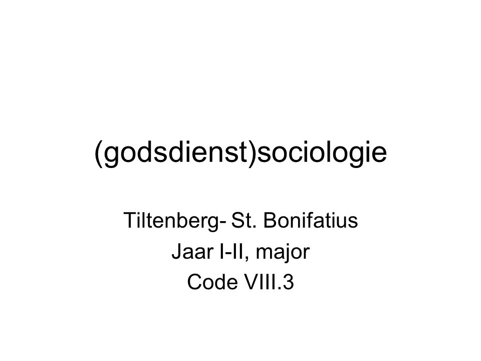 (godsdienst)sociologie