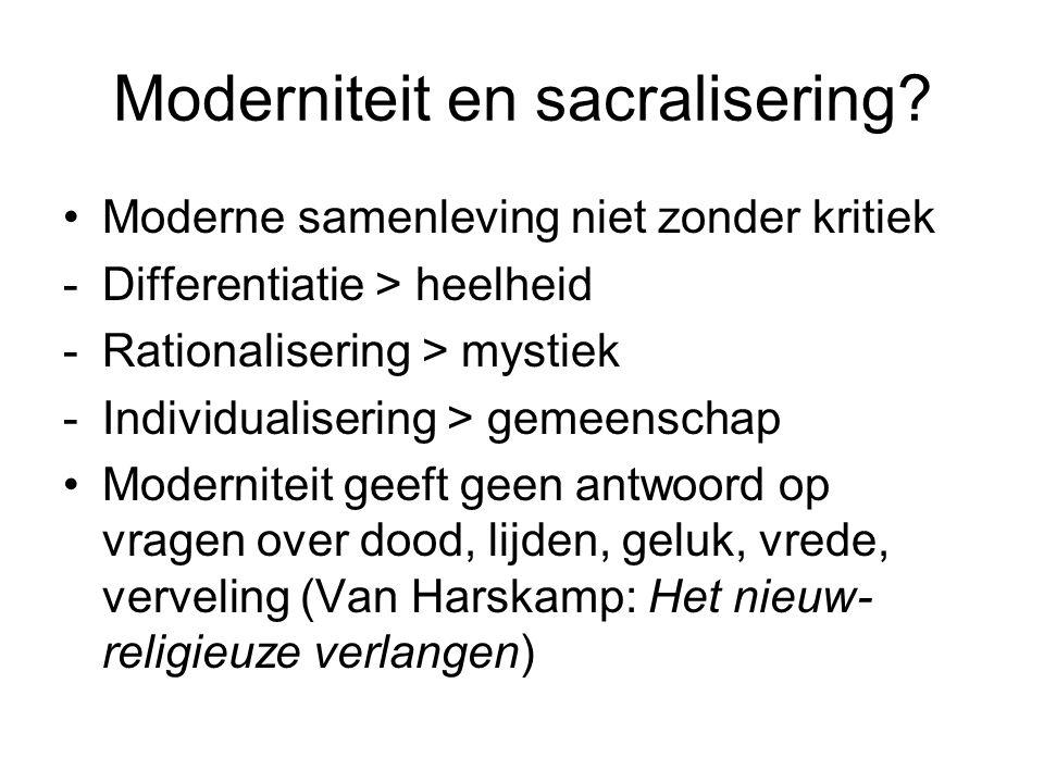 Moderniteit en sacralisering