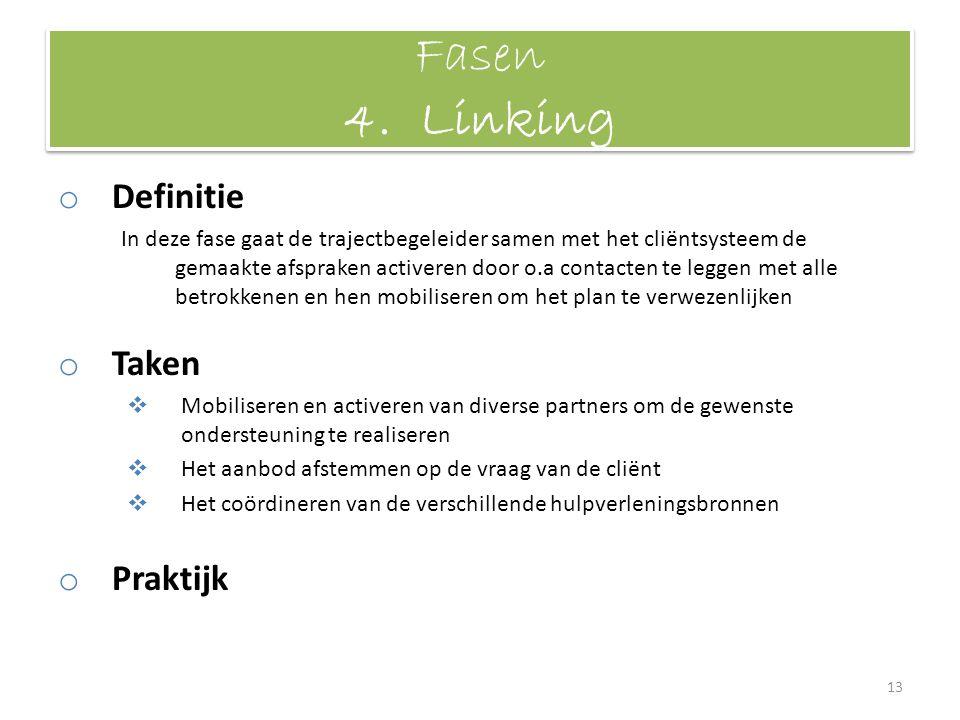 Fasen 4. Linking Definitie Taken Praktijk