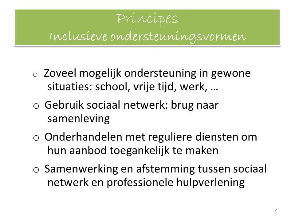 Principes Inclusieve ondersteuningsvormen