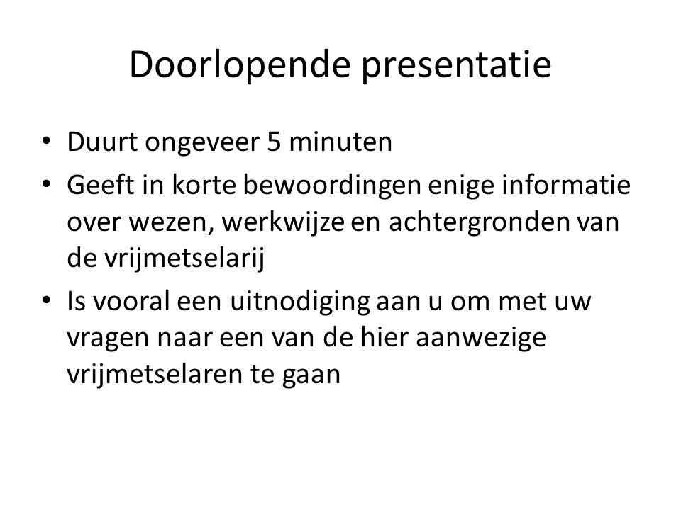 Doorlopende presentatie