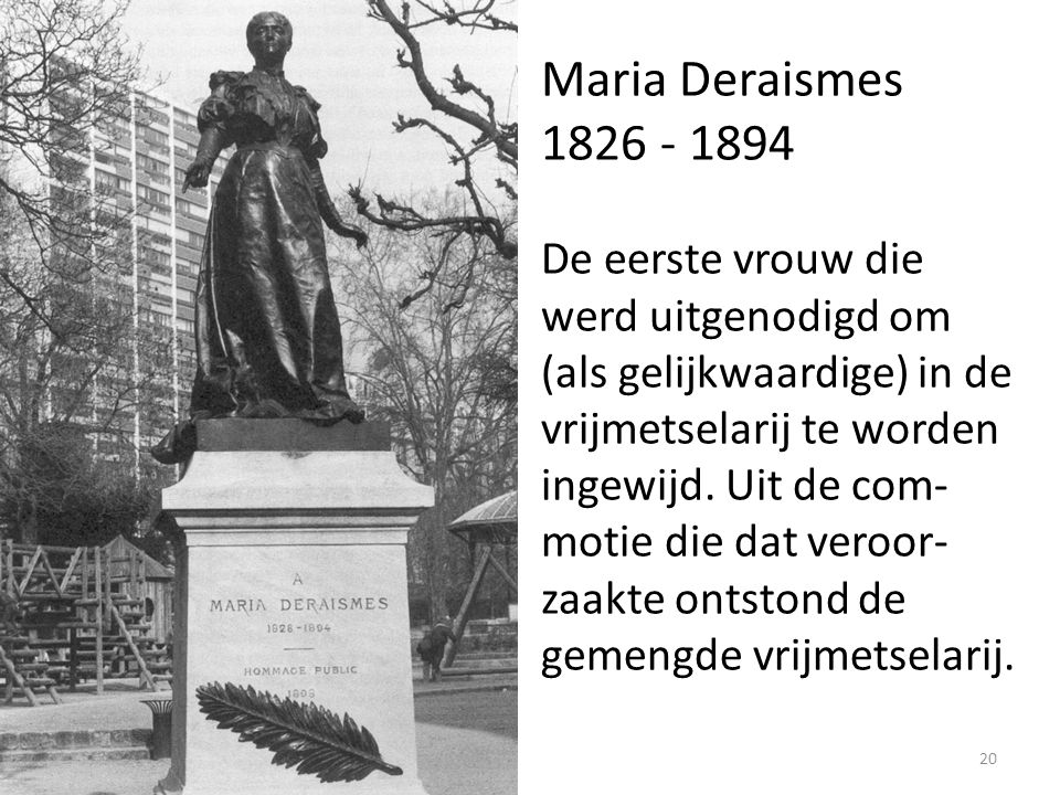 Maria Deraismes 1826 - 1894.