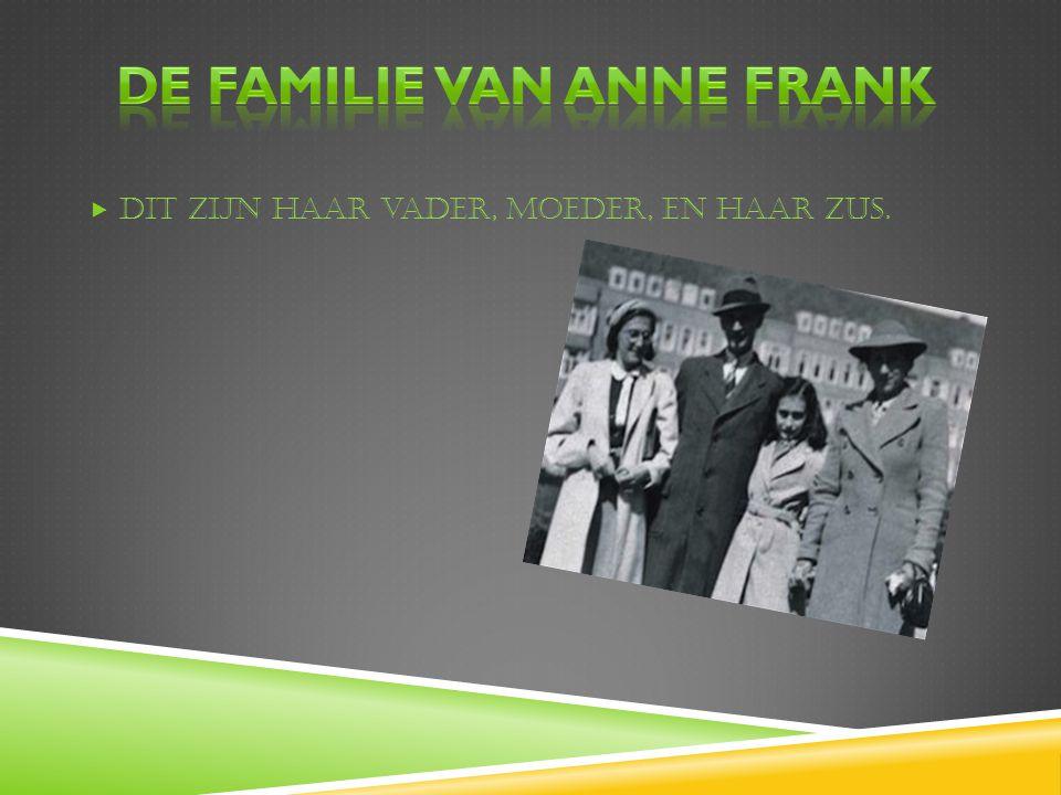 De familie van Anne frank