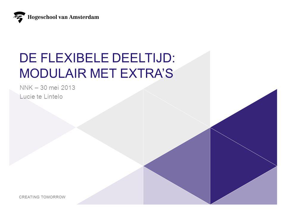 De flexibele deeltijd: MODULAIR MET EXTRA'S