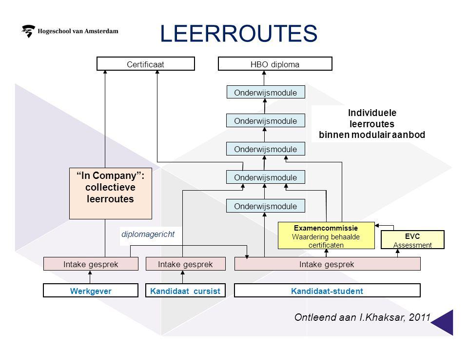 collectieve leerroutes binnen modulair aanbod